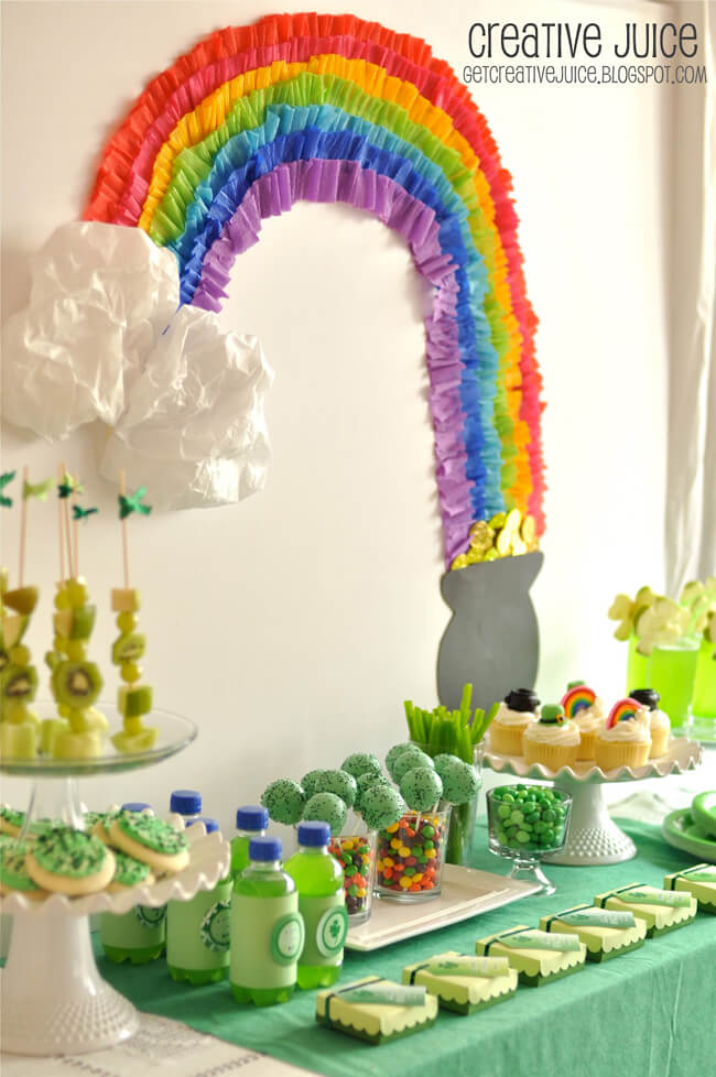 St. Patrick's. Rainbow - Color Party Trend 3: Color sets the stage for fabulous fun | Halfpint Design