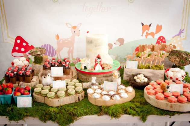 Top Party Trends for 2017. Trend 1: Still loving nature...fairy garden, lumberjack, camping, glamping, woodland, cactus. | Halfpint Design - Cute woodland party animals