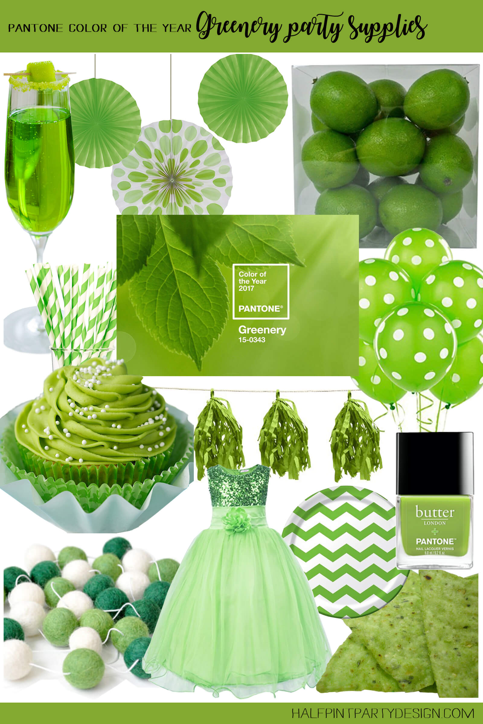 Green party supplies | Halfpint Design - I love all these green party items. Makes a great St. Patrick's Day party or a fun addition to a Dinosaur party, Princess and the Frog party, reptile party, etc.