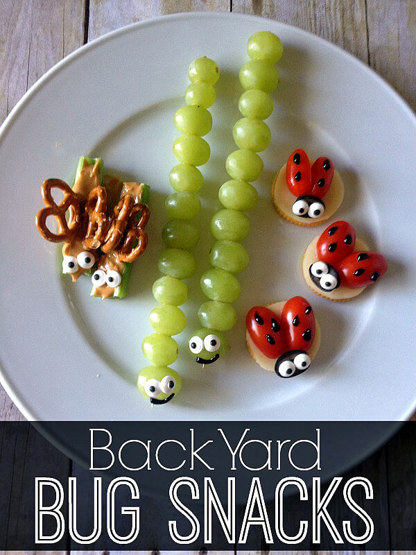 Why I Say NO to Dessert Buffets | Halfpint Design - Kids these days already consume way too much sugar. Let's give them all the fun without the crash. Cute bug snacks are fun to eat and healthy. Shhh don't tell the kids.