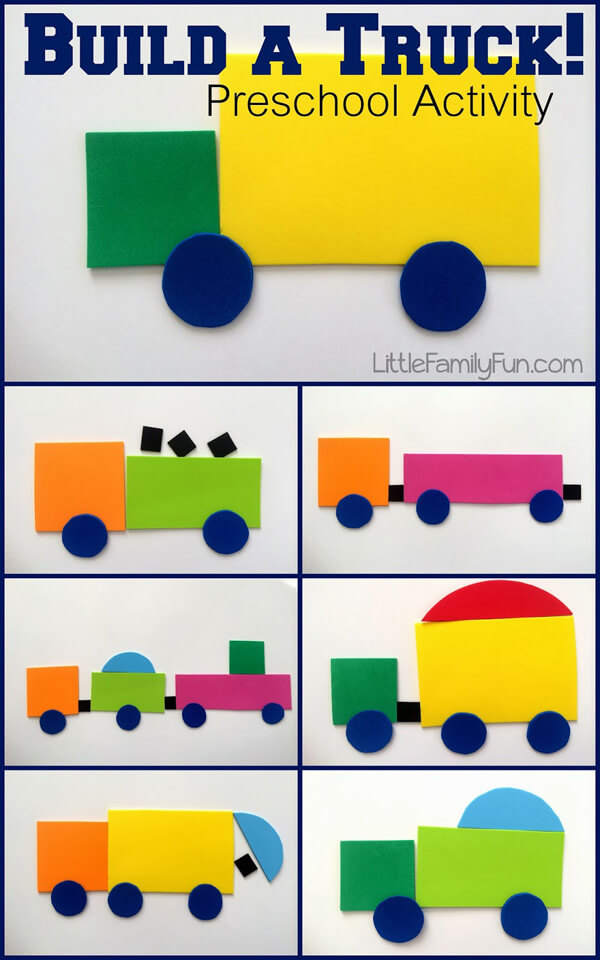 Party activities for boys 3-5 | Halfpint Design - Create a truck collage for a Transportation Party