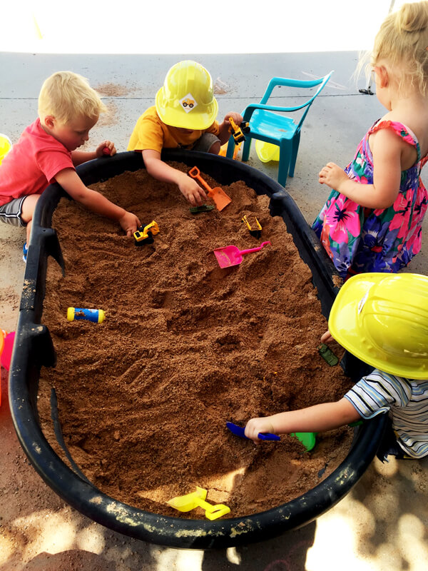 3rd birthday - Construction Party Blast | Halfpint Design - excavation station dig site