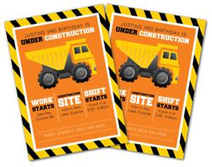 Construction Party Sources | Halfpint Design - alternative invitations, Etsy