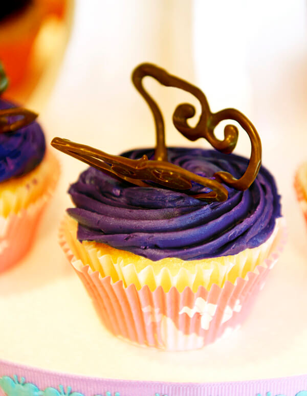 Butterfly First Birthday Party | Halfpint Design - Store bought cupcakes with added chocolate butterflies