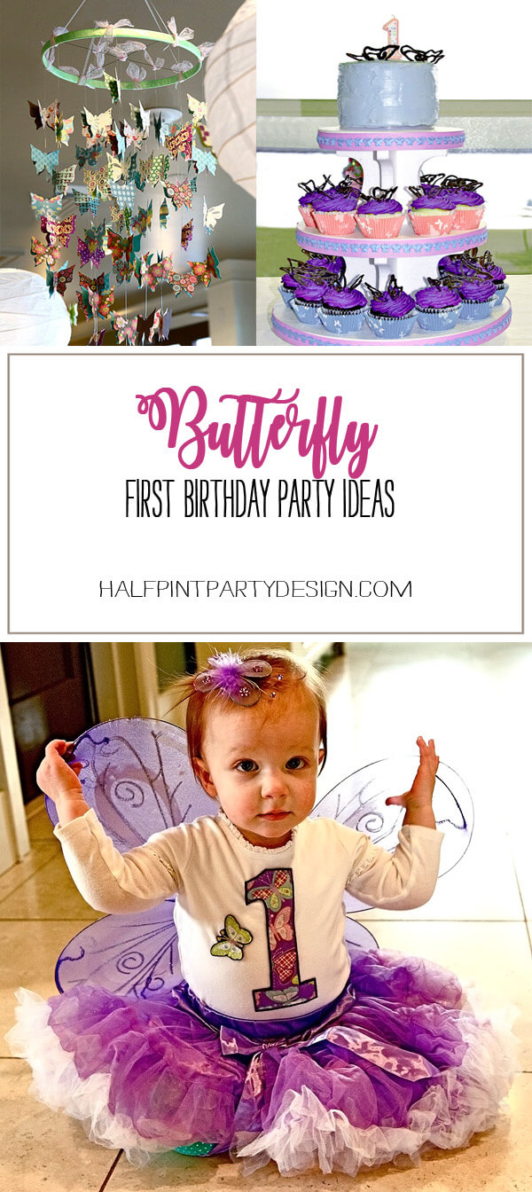 Butterfly First Birthday Party | Halfpint Design - fun ideas for a butterfly party