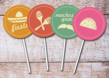 Host a Fabulous Fiesta for Cinco de Mayo | Halfpint Design - Cinco de Mayo Party toppers from Thank You Papers. Coordinating Party invitations available.