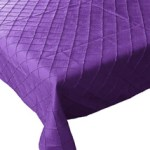 A Passion for Purple   Halfpint Design - Purple pin tuck tablecloth for your next purple party.