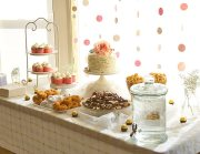 Vintage Coral and Gold Baby Shower