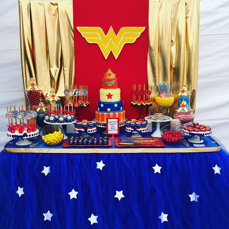 Love this Wonder Woman Backdrop. Make it even MORE classy with a few  modifications.
