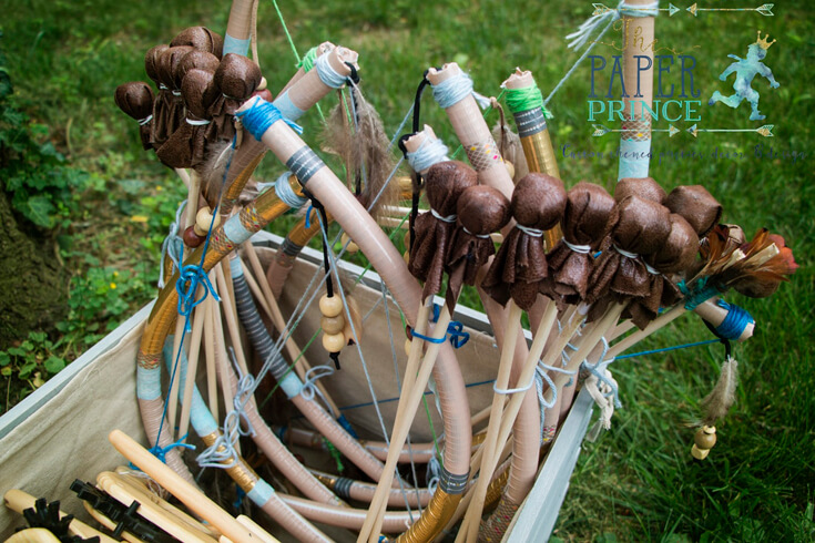 Bows or Arrows: Gender Reveal Party Ideas   Halfpint Design - Instructions for DIY bows and arrows. Such a cute activity and party favor for a bows or arrows gender reveal, boho baby shower, and boho tribal or wild one birthdays.
