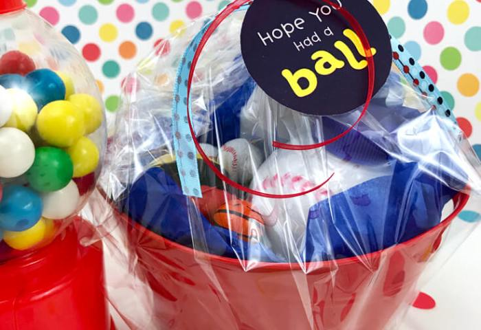 Ball Party Favor DIY + Free Printable Tags