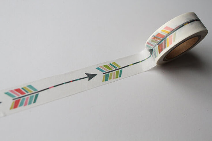 Bows or Arrows: Gender Reveal Party Ideas   Halfpint Design - How fun is this arrow washi tape!? Use it for party favors, to decorate a DIY bow and arrows, or add a little personality to your invitation envelopes. Works just as well for a Boho baby shower or Wild One birthday party.