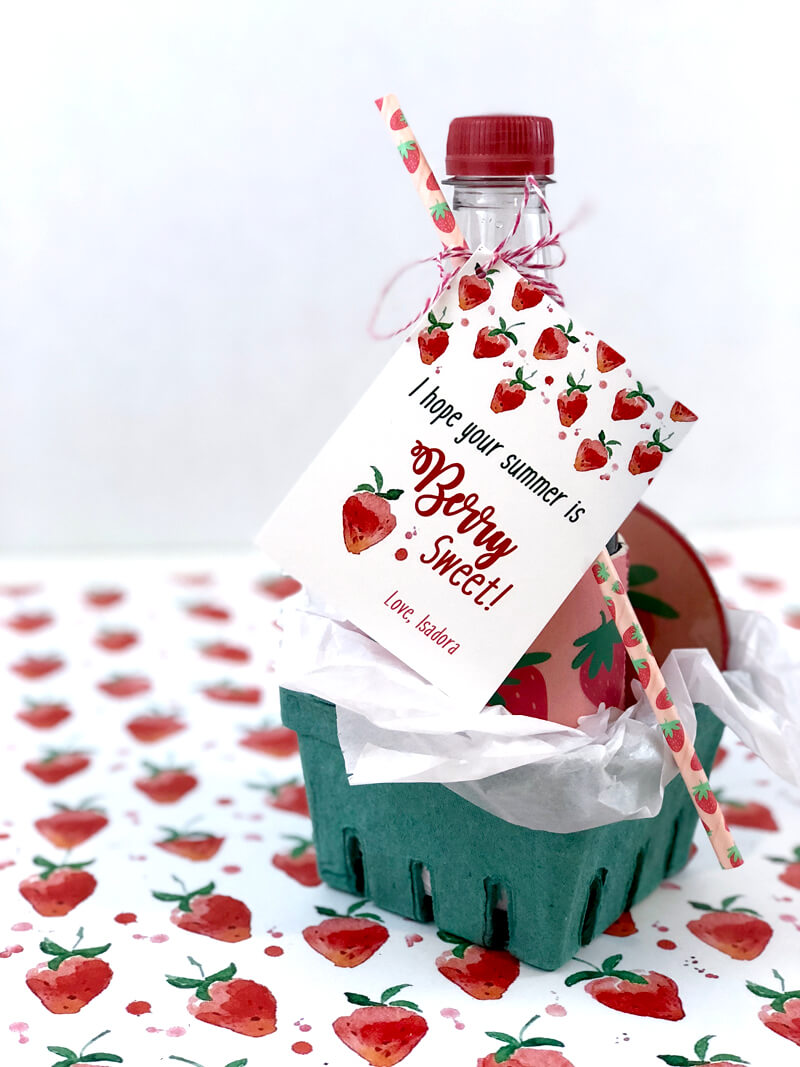 Have a Berry Sweet Summer Teacher Gift in berry basket