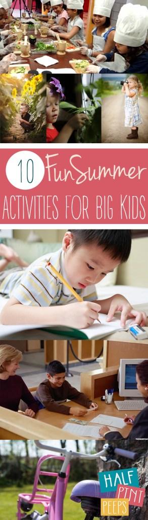 10 Fun Summer Activities for Big Kids - Summer Activities for Kids, Kid Stuff, Kid Hacks, Summer Stuff for Kids, Summer Activities for Big Kids, How to Keep Kids Entertained, Popular Pin