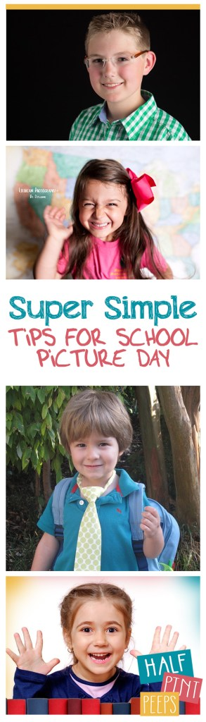 Super Simple Tips for School Picture Day| School Picture Tips, Tips and Tricks for School Picture Days, School Picture Tips and Tricks, School Picture DIYs