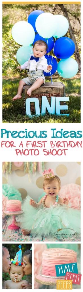 Precious Ideas for a First Birthday Photo Shoot| Birthday Ideas, Photo Shoot Ideas for Kids, Birthday Ideas for Kids, First Birthday Hacks, Popular Pin #Birthday #KidsBirthday