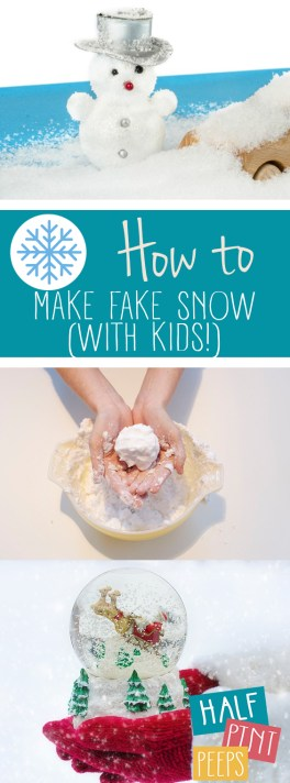 How to Make Fake Snow (With Kids!)| How to Make Fake Snow, DIY Snow, DIY Fake Snow, Kids Stuff, Winter Activities for Kids, Fun Crafts for Kids, Snow Crafts for Kids, Winter Crafts for Kids #DIYFakeSnow #CraftsforKids