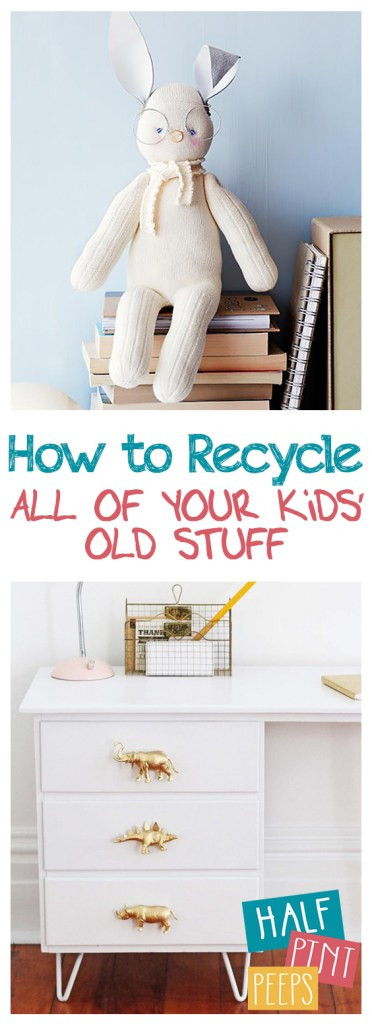 How to Recycle ALL of Your Kids' Old Stuff| Recycle Kids Toys, Recycle Kids Clothing, How to Recycle Kids Toys and Clothing, Kids, Kid Stuff, Recycling 101, Recycling Tips and Tricks, Easy Crafts, Repurpose Crafts for Kids, Popular Pin #KidStuff #RepurposeProjcts #RecyclingCrafts