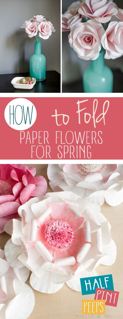 How to fold paper flowers for spring how to fold paper flowers for spring paper flower paper flowers diy paper mightylinksfo Choice Image