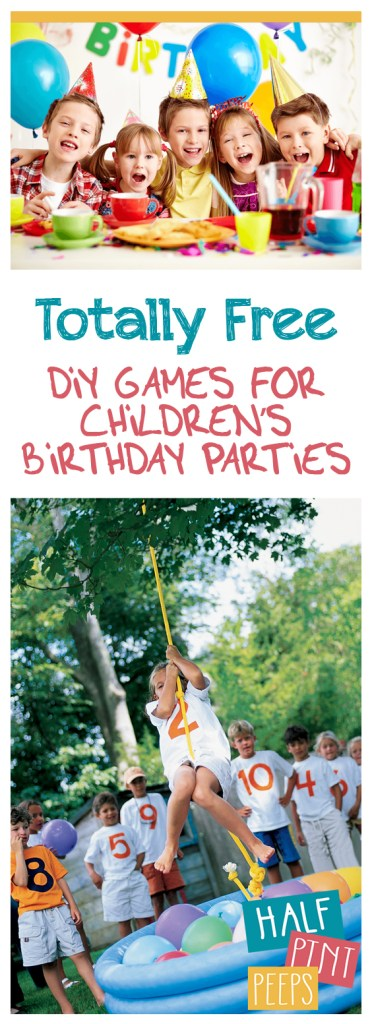 Totally Free DIY Games for Children's Birthday Parties| Party Games for Kids, Kids Party Games, Birthday Party Games, DIY Games for Kids, DIY Party Games for Kids, Games for Kids, Easy Games for Kids, Inexpensive Games for Kids, Popular Pin #GamesforKids #BirthdayPartyGames #BirthdayGames