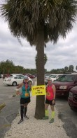 After the race--under the obligatory Florida palm tree.