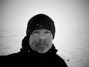 Mark kelly - Hiker on the moors in the snow