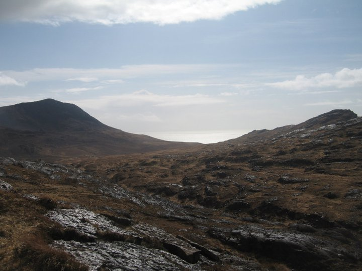 Island of Rum in Scotland and rocks vista