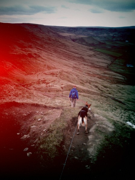 Downhill path from Stoodley Pike
