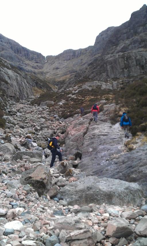 Gulley path on Buchaille Etive Mor