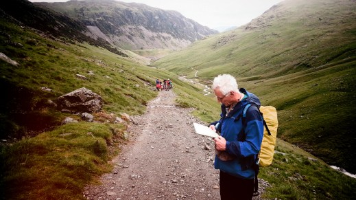 Map reading helvellyn area