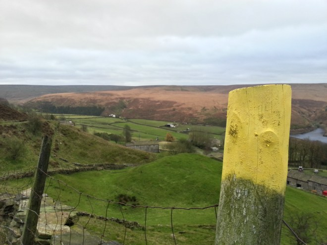 Colne valley circular Walk post marker