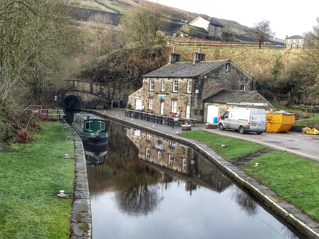 Canal at Tunnel End Poetry Trail Marsden
