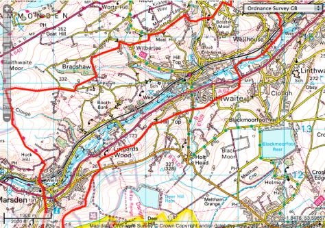 COLNE VALLEY CIRCULAR WALK via OS map hike wayfaring