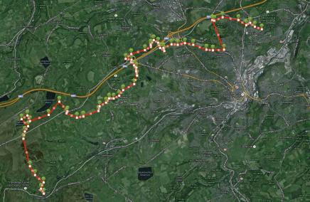 Kirklees Way Huddersfield Hike Map