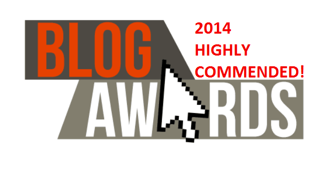 Blogger Awards Highly Commended 2014