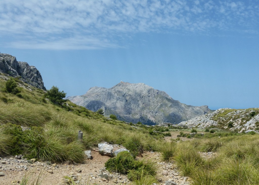 GR22 Tramuntana Mountains with view of Puig Major