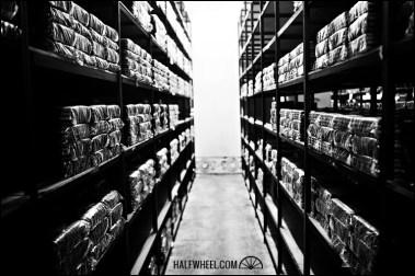 Storage in La Gran Fabrica Drew Estate.