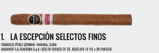 When you look back over the list of 25 very good cigars and ask which ones will be classic, you can't help but think the La Escepción is the leading candidate. Even young, it was sublime. In a fashion only capable in this industry, our cigar of the year for 2012 was supposed to be a 2011 release. Habanos S.A. and the Italian distributor Diadema brought back what was once the strongest cigar out of Cuba and created a masterpiece. The packaging is excellent, the size is classic and the flavor is sublime. If Cuba could make every Edición Regional half as good as the La Escepción Selectos Finos, there would be little to complain about regarding the program. It is at the top of our list now and the belief amongst our editorial staff is it will only get better. — CM.