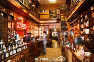 The front of the Nat Sherman Townhouse, including the registers and accessories.