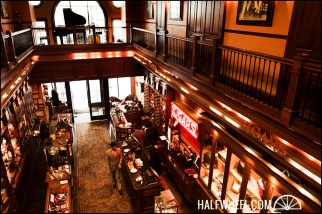 View from the upstairs of the Nat Sherman Townhouse.
