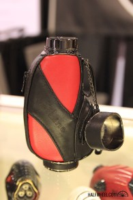 The JetLine PGA lighter was one of the more interesting new products from the company; it's a quad-flame lighter that is geared towards golfers and is said to hold a half of a can of butane. It's available in black, brown and this red-and-black combo, each with an MSRP of $99.99.