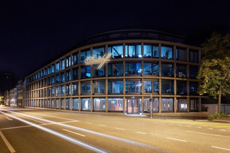 Maison Davidoff Facade by Night