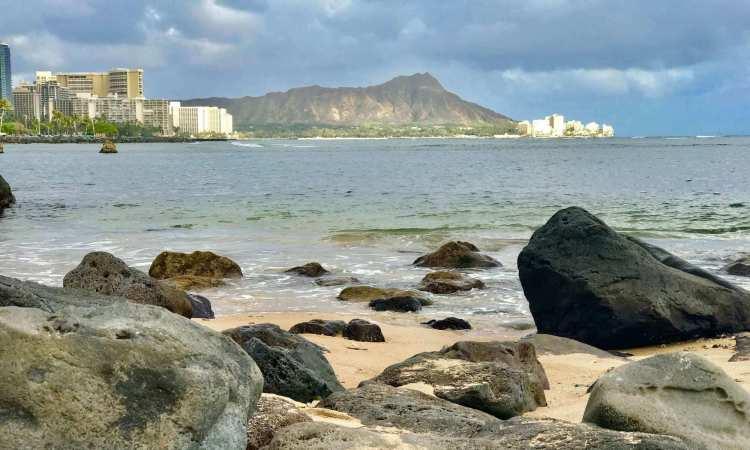 Local Oahu beach near Waikiki