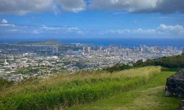 downtown Honolulu and Waikiki view