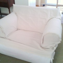 Roll Arm Chair Slipcovers Stair Lift Slipcover Made From Dropcloth Haliblurtin 39