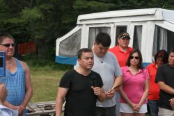 Despite promises for a joint statement from AFN chief Atleo and Elsipogtog First Nation, none has been forthcoming. Instead, seismic testing is set to resume Thursday, July 4th. [Photo: Miles Howe]
