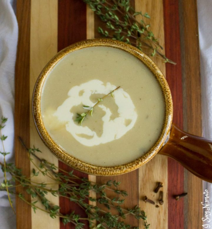 A hot and hearty soup, this Parsnip and Celeriac soup from I Say Nomato is sure to warm you from the inside out!