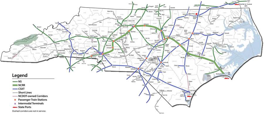 Amtrak Nc Map.Amtrak Stations North Carolina Map