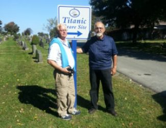 Mr Goodwin From New Zealand visits Titanic Site