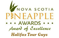 Pineapple award of excellence - Halifax Tour Guys